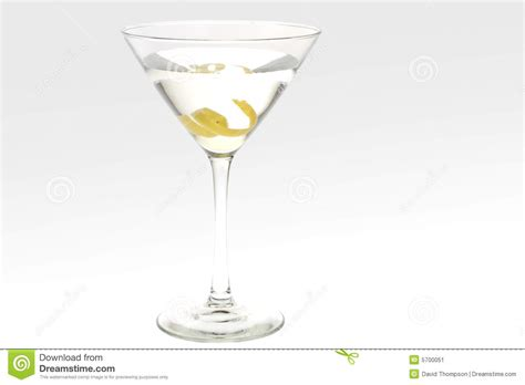martini twist martini with a lemon twist stock image image 5700051