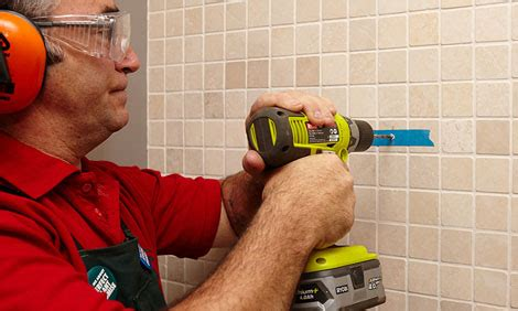 how to drill through bathroom tiles how to drill into tiles bunnings warehouse