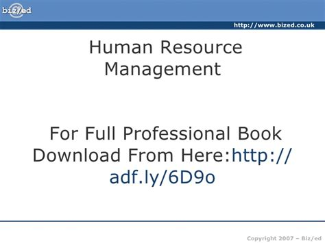 Why Mba In Human Resource Management by Hrm Human Resource Management Professional Book