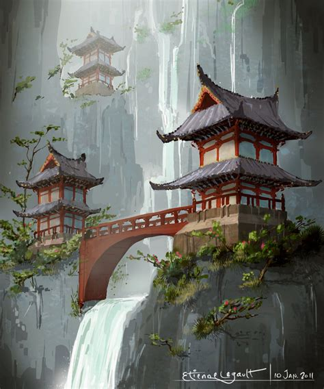 japanese temple by e sketches on deviantart