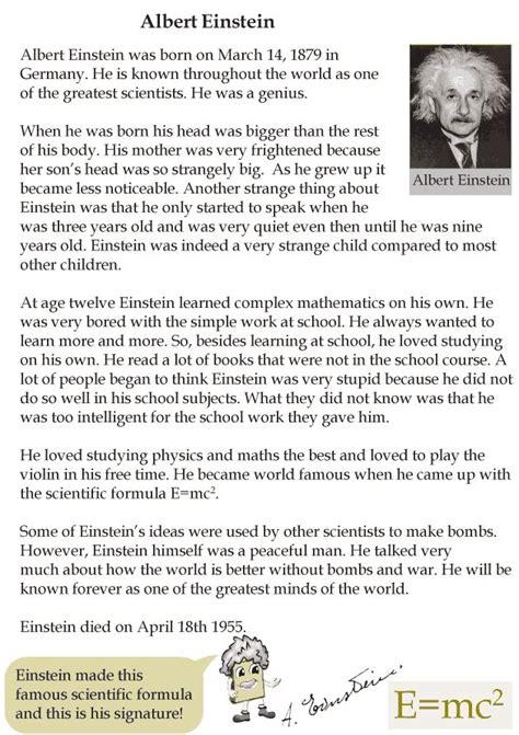 biography of albert einstein in english short grade 4 reading lesson 23 biographies albert einstein 1
