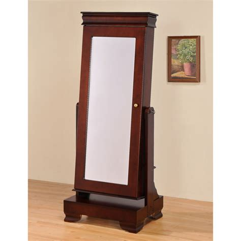 jewelry armoire walnut standing mirror floor standing mirror jewelry armoire