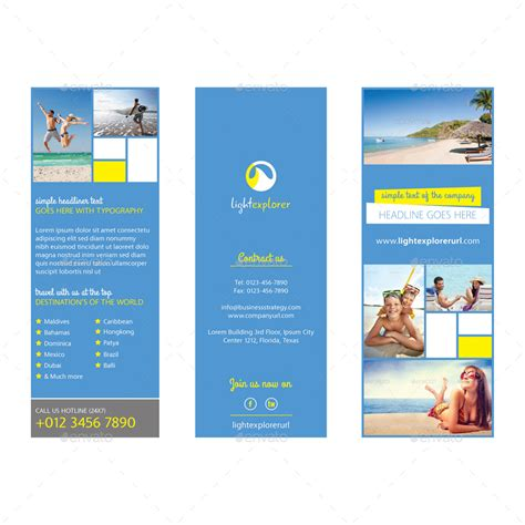 travel agency tri fold brochure vol 3 by samiul75