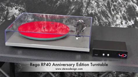 Rega Rp40 Turntable For Stereo Made In stereo design rega rp40 anniversary edition turntable in