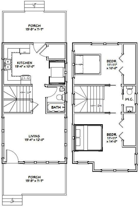 excellent floor plans 16x30 tiny house 16x30h11 901 sq ft excellent
