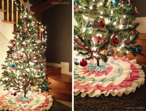 what is a tree skirt called how to make a no sew ruffled tree skirt decorating home design idea