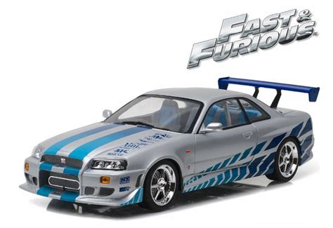 nissan gtr skyline fast and furious nissan skyline gtr r34 fast and furious 1 18