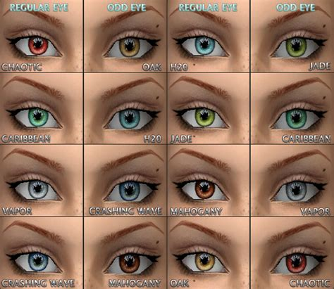 2 different eye colors mod the sims tabbs caffinated