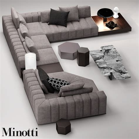 sofas by design minotti freeman seat 3d max