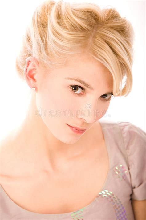 close up spread blonde slit blondes close up portrait stock image image 6937941