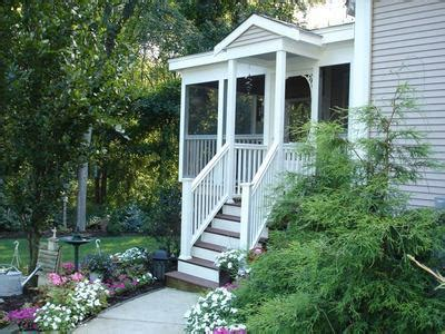 bungalow with screened porch deck and porch designs for bungalow and cottage homes by