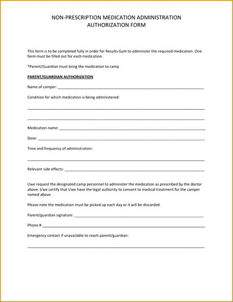 medication consent form template 5 medication consent form template fabtemplatez