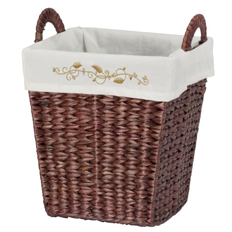 decorative waste baskets creative ware home coventry waste basket brown home
