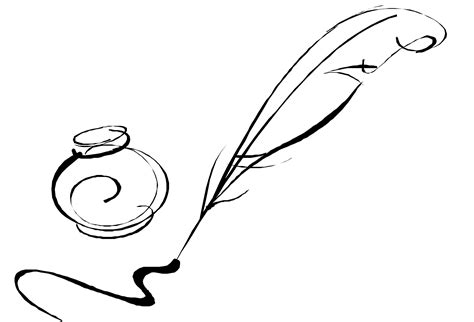 tattoo pen and paper quill pen image cliparts co