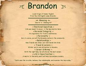 The Meaning Of The Name Brandon Meaning Of Name