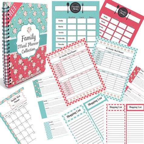 jamerrill large family family meal planner collection collage large family