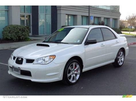 subaru sedan white satin white pearl 2007 subaru impreza wrx sedan exterior