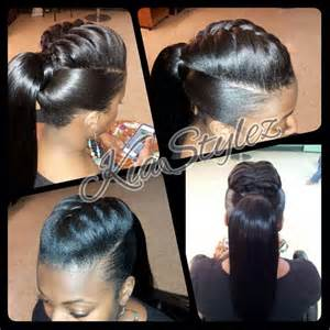 ponytail with braid detail by kiastylez braids tail