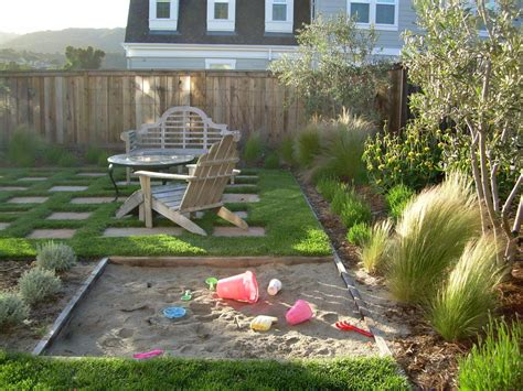 kid friendly backyard landscaping ideas gorgeous sandboxes in landscape traditional with