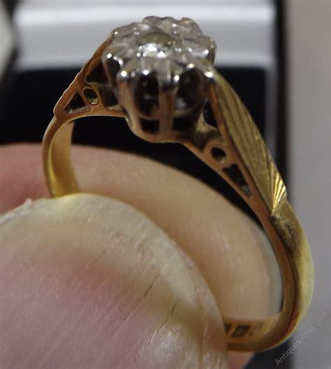 antiques atlas vintage 18ct gold solitaire ring
