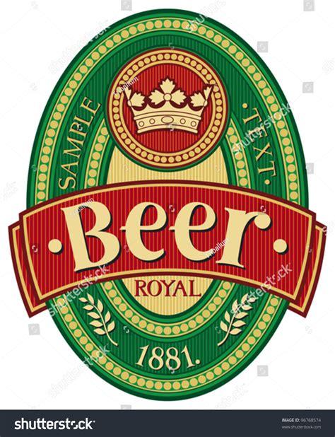 design beer label illustrator beer label design stock vector illustration 96768574
