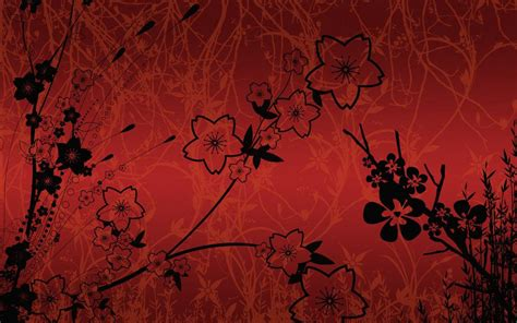 red flower backgrounds wallpapers freecreatives
