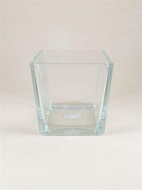 vaso quadrato vetro vaso vetro quadrato cm 14x14 h14 ildettaglio it