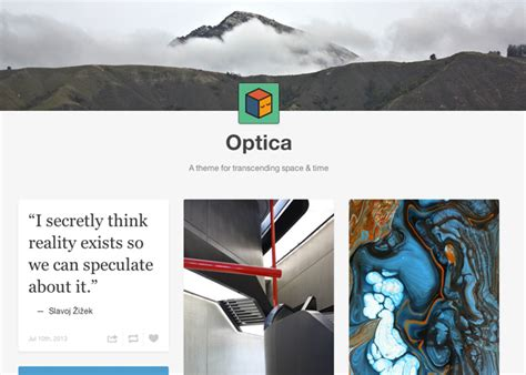 theme tumblr default optica theme guide