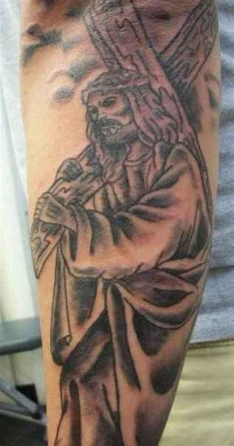 jesus carrying the cross tattoos jesus designs and how to choose one