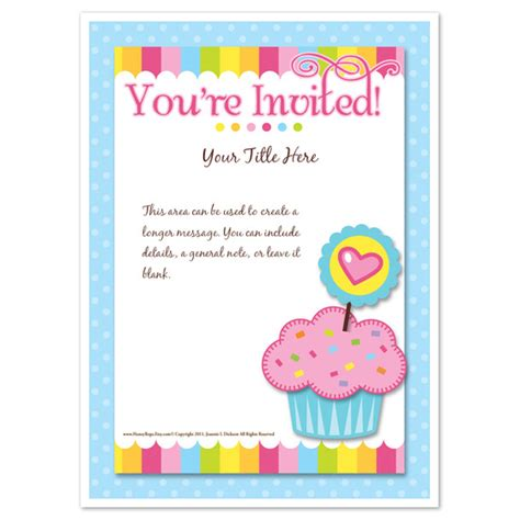 You Re Invited Cupcake Invitations Cards On Pingg Com You Re Invited Template