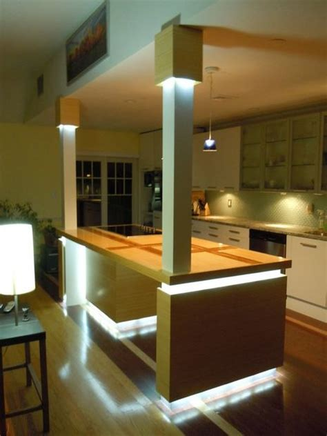 kitchen led lighting ideas 12 diy kitchen island designs ideas home and gardening