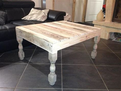 diy coffee table with turned legs pallet coffee table with turned legs 1001 pallet ideas