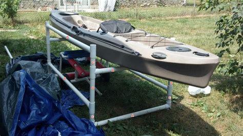 Kayak Storage Rack Diy by Diy Pvc Kayak Rack Diy