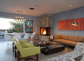 nice Blue Color Living Room Designs #2: stylish-mid-century-living-rooms-29.jpg