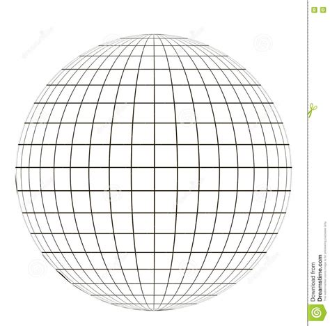 grid pattern of earth latitude and longitude lines vector www pixshark com
