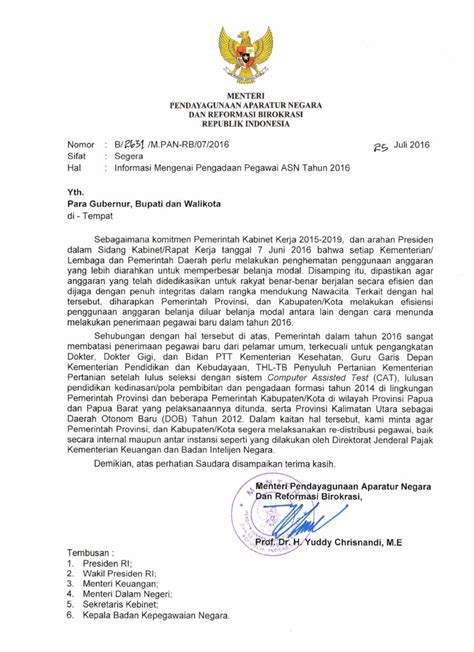 seleksi cpns 2016 ini surat edaran menteri panrb berita