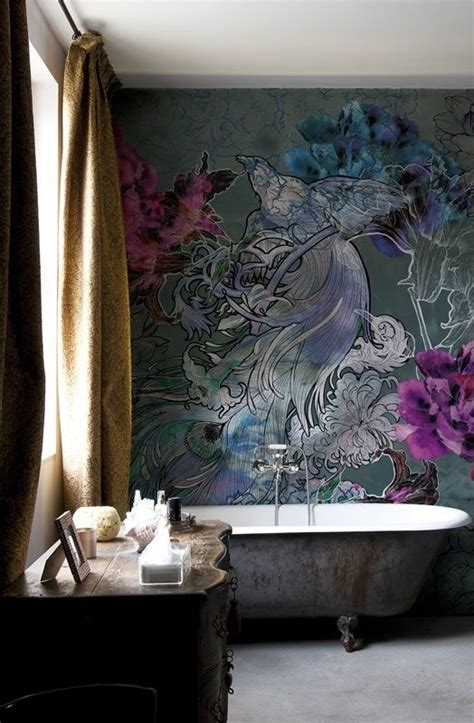 bathroom mural ideas make your home bloom with these floral wallpaper ideas