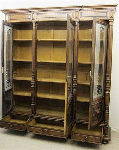 Library Cabinets With Glass Doors Antique Henri Ii Library Cabinet With Glass Doors