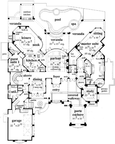 Porte Cochere Plans by A Unique Porte Cochere 33530eb 1st Floor Master Suite
