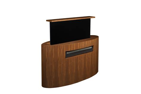 hidden tv lift cabinet custom tv lift atlantis oval tv lift cabinet 173 tronix