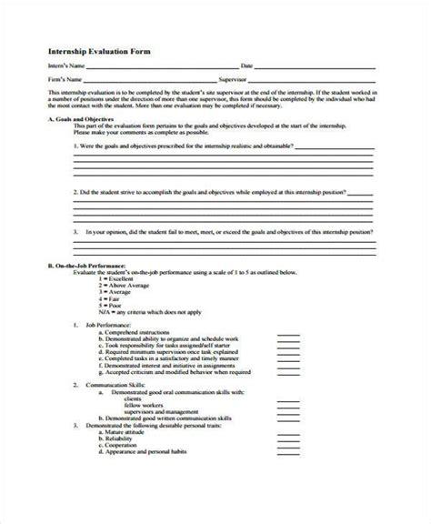 9 student evaluation form sles free sle exle