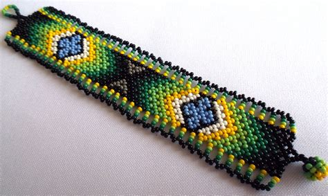 huichol bead huichol beaded bracelet