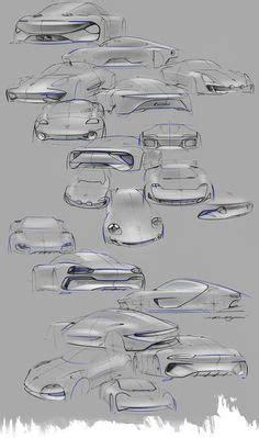 porsche concept sketch porsche mission e concept design sketch gallery
