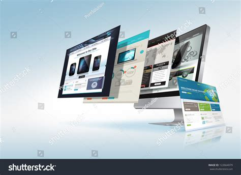 homepage design concepts web design concept stock photo 122664079 shutterstock