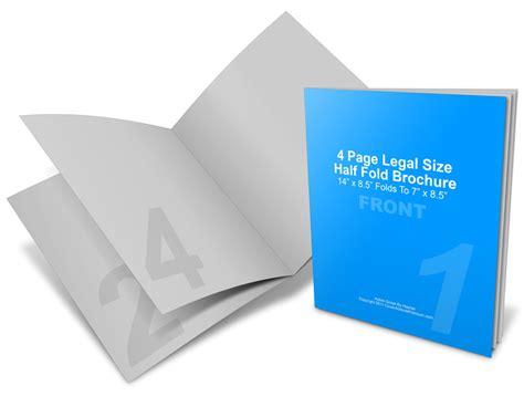 single fold brochure template 14 x 8 5 half fold brochure mockup cover actions premium