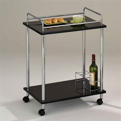 Wine Rack Kitchen Island Fergus Kitchen Island Serving Cart Black Glass Shelves