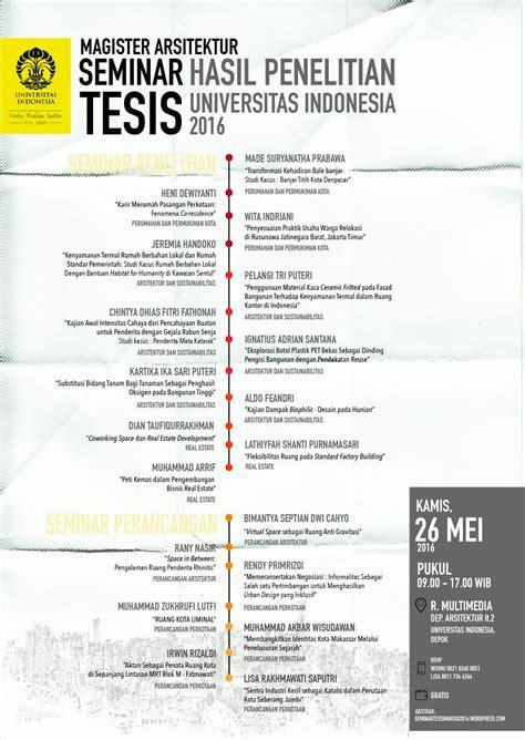 tesis magister akuntansi universitas indonesia seminar tesis hasil penelitian magister arsitektur