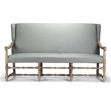 french country dining bench augusto french country sage linen oak dining bench sofa