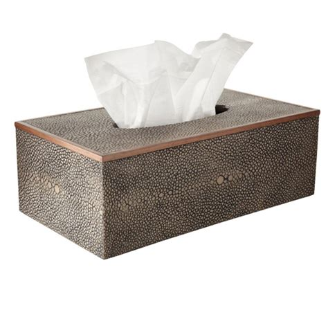 tissue holder faux shagreen tissue box holder oka