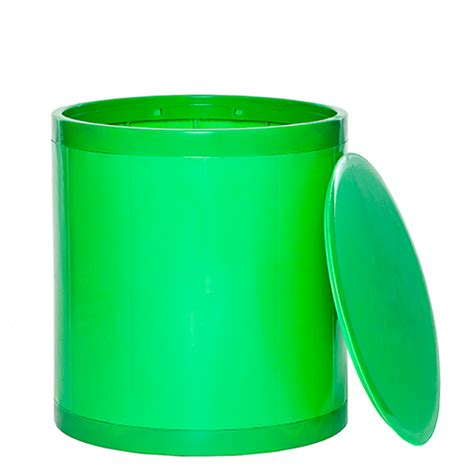 Solid Green Stool by Otto Storage Stool Solid Green